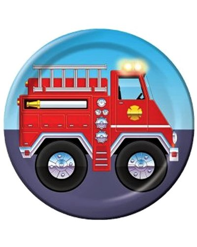 Magicoo Feestbord brandweer - 8 stuks