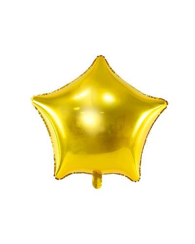 Magicoo Folieballon ster, 48cm, goud