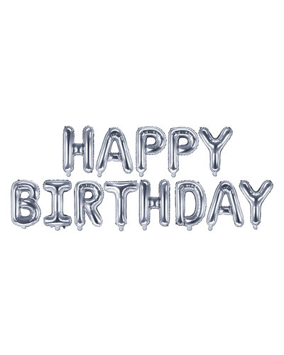 "Magicoo Folieballon ""Happy Birthday""  zilver"