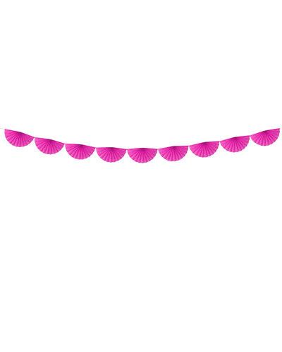 Magicoo Papieren waaier slinger roze 3m