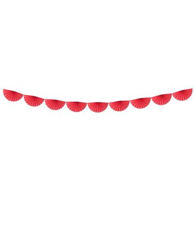 Magicoo Papieren waaier slinger rood 3m