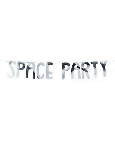 "Magicoo Party Banner Space Party ""Space Party"" zilver"
