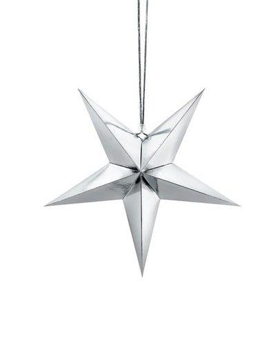 Magicoo Papieren decoratie - zilveren ster