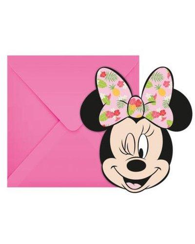 Magicoo 6 uitnodigingen inclusief envelop Minnie Mouse