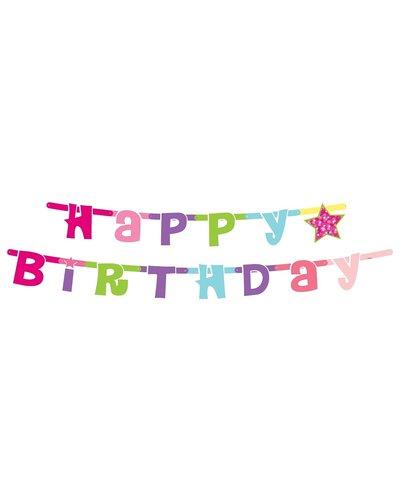 """Magicoo Kleurrijke slingers """"Happy Birthday"""""""