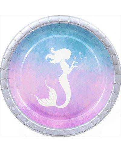 Magicoo 8 feestborden - elegante zeemeermin