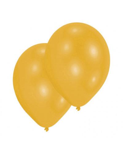 Magicoo 10 latex ballonnen parelmoer goud 27,5 cm / 11 ''