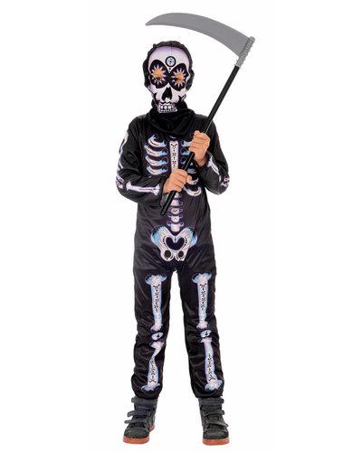 Magicoo Mexicaans skelet kostuum voor kinderen