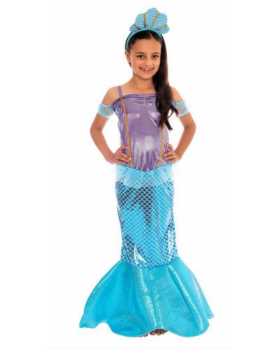 Magicoo Zeemeermin kostuum voor meisjes blauw-paars