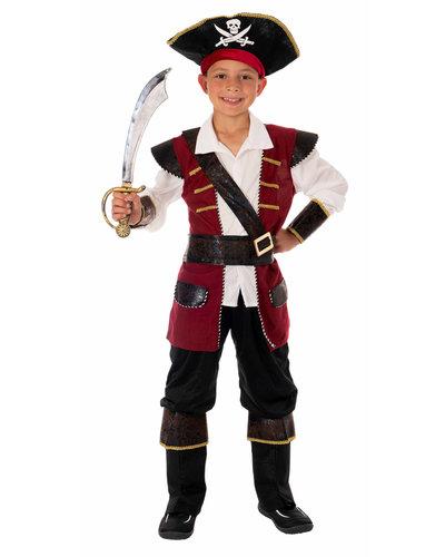 Magicoo Piratenkapitein rood goud voor jongens