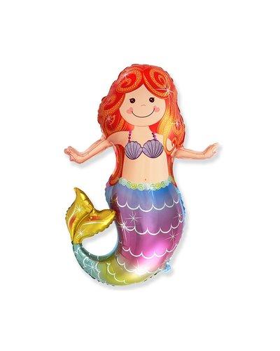 Magicoo Folieballon - kleurrijke zeemeermin - ca. 61 cm