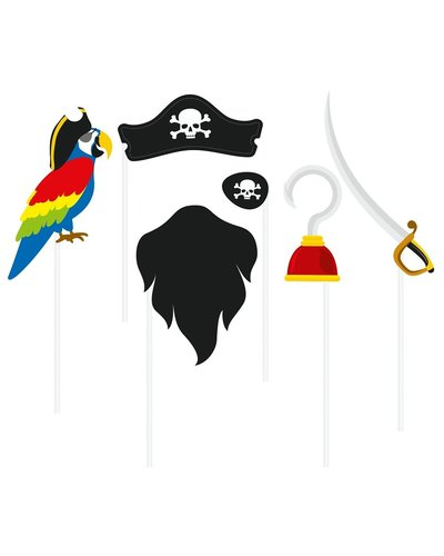 Magicoo Photobooth set - rekwisieten voor piratenfeest