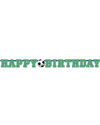 "Magicoo Feestbanner ""Happy Birthday"" voetbal"