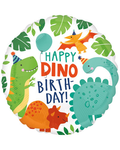 Magicoo Dino Party folieballon rond