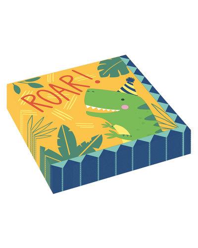 Magicoo 16 Dino servetten 33 x 33 cm