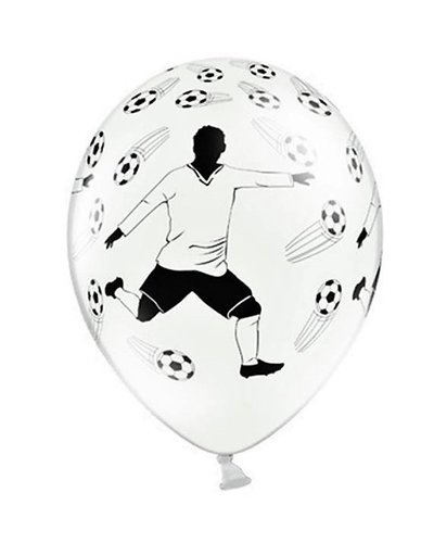 Magicoo 6 latex ballonnen voetballer 30cm