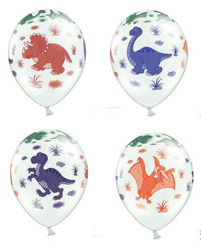 Magicoo 6 dinosaurus latex ballonnen - 30 cm hoog