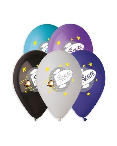 Magicoo 5 latex ballonnen Space Party - 30 cm hoog