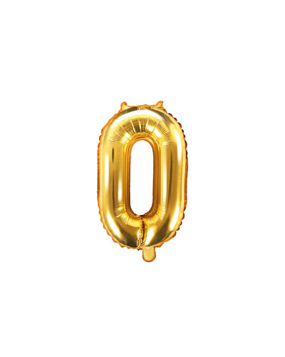 "Magicoo Folieballon Nummer ""0"" Goud - 35 cm"
