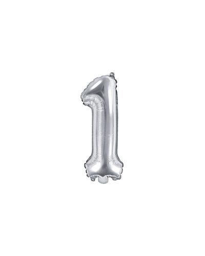 "Magicoo Folieballon Nummer ""1"" Zilver - 35 cm"
