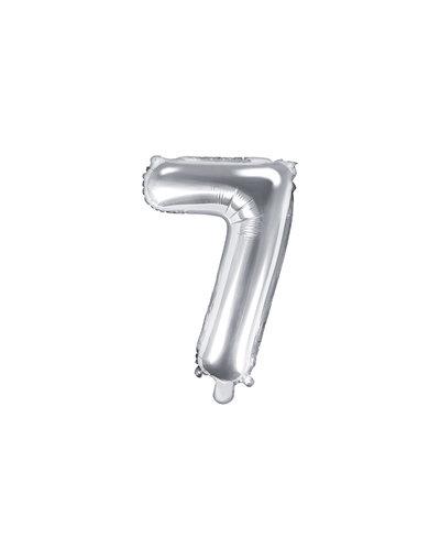 "Magicoo Folieballon Nummer ""7"" Zilver - 35 cm"