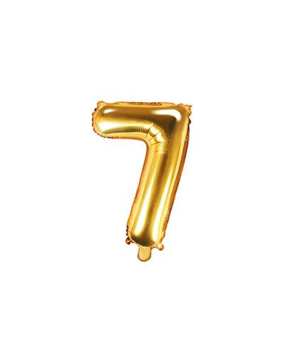 "Magicoo Folieballon Nummer ""7"" Goud - 35 cm"