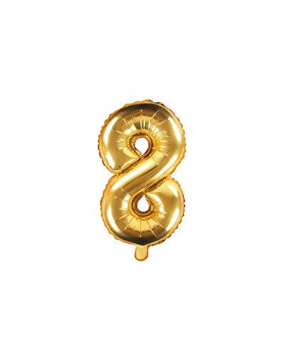 "Magicoo Folieballon Nummer ""8"" Goud - 35 cm"