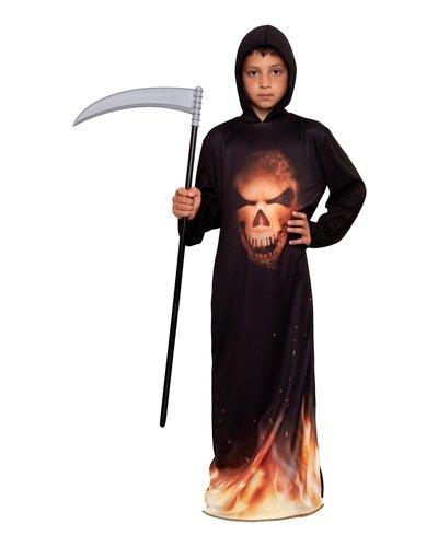 Magicoo Skelet spook kostuum in vlammen