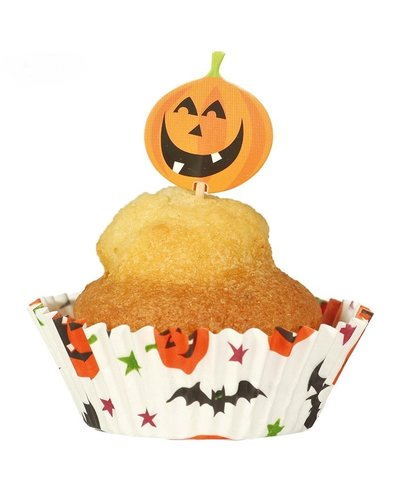 Magicoo 24 Halloween Muffin Vormen & Party Prikkers