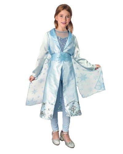 Magicoo Ijsprinsessen jurk voor meisjes blauw zilver