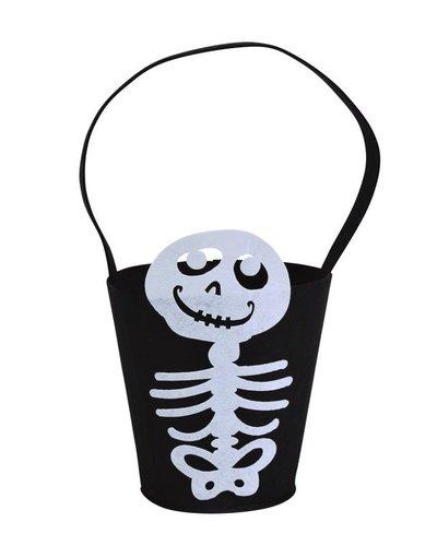 Magicoo Halloweenzak met skelet 14 x 18 cm