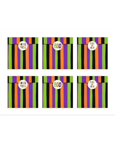 Magicoo 6 kleurrijke papieren zakken voor snoepjes