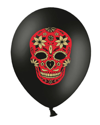"Magicoo 6 Ballonnen zwart ""Dag van de doden"""