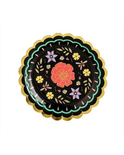 """Magicoo 6 """"Dag van de doden"""" borden met bloemen"""
