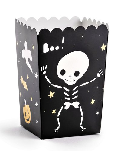 "Magicoo 6 Popcorn/zoetigheden bakjes ""BOO"""