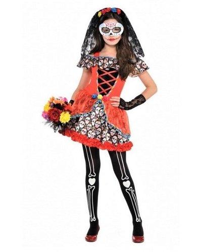 Magicoo Mexicaanse Senorita - Skeletkostuum voor meisjes