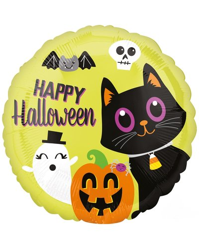 "Magicoo ""Halloween Vrienden"" folieballon rond 43cm"