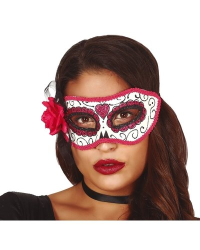 Magicoo Mexicaans skeletmasker roze