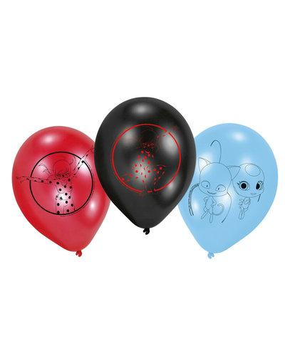 Ballonnen met lieveheersbeestje - rood, blauw, zwart