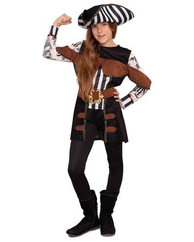 Magicoo Tattoo piraten kostuum voor meisjes