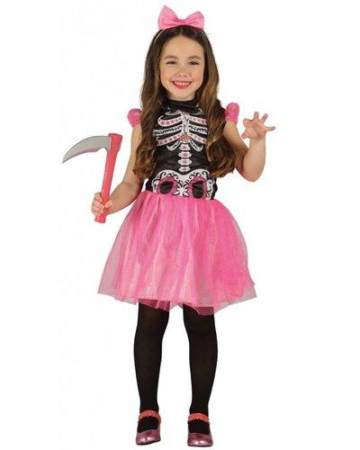 Magicoo Roze skelet pak meisjes