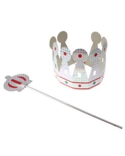 Magicoo Koning set: kroon en scepter zilver