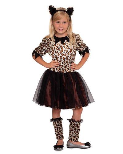 Luipaarden jurk voor meisjes