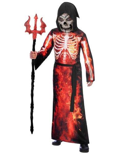 Amscan Skeletpak ' fire reaper' voor kinderen