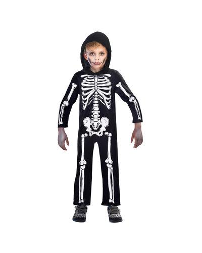 Amscan Skelet pak voor kinderen zwart wit