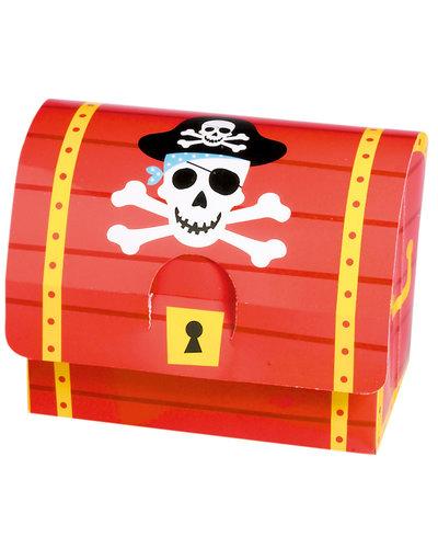 GoDan S. A. Rode geschenkboxen voor een piratenfeestje