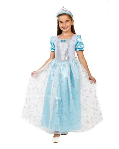 Magicoo Blauwe prinsessenjurk Ijsprinses