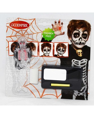 Magicoo Schminkset skelet voor Halloween