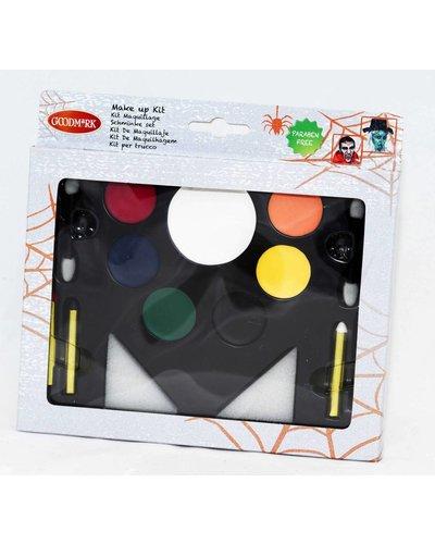 Magicoo familie halloween schminkset met instructie handleiding