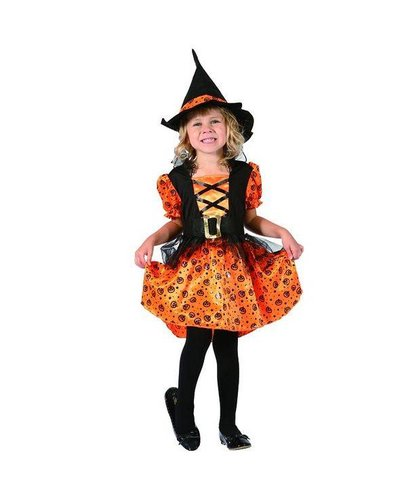 Magicoo Oranje heksenjurk voor meisjes